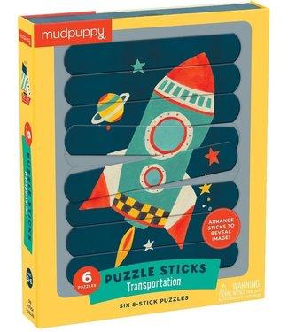 Mudpuppy Mudpuppy | Puzzle  Sticks | Transportation | 24 delig | 3+