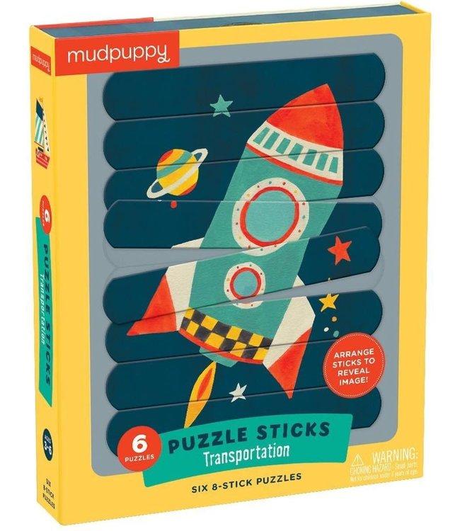Mudpuppy | Puzzle  Sticks | Transportation | 24 delig | 3+