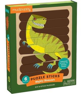 Mudpuppy Mudpuppy | Puzzle Sticks | Mighty Dinosaurs | 24 delig | 3+