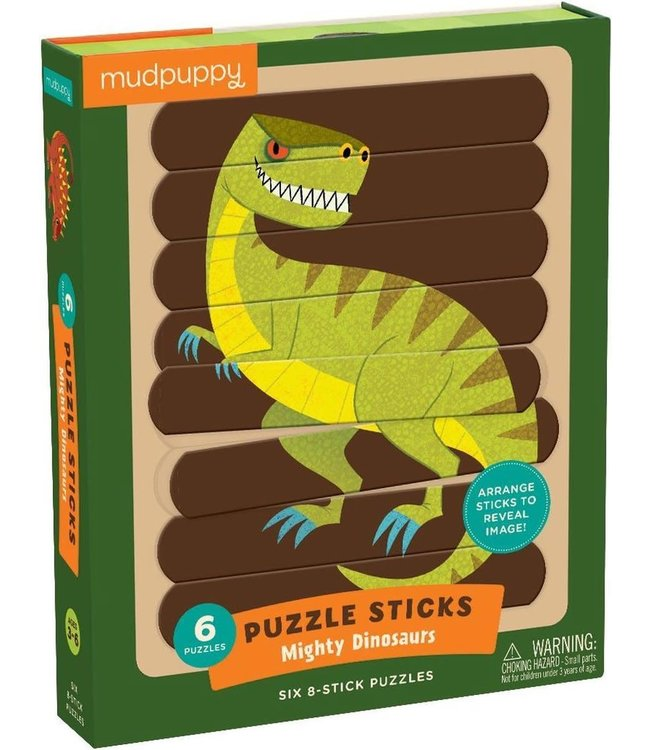 Mudpuppy | Puzzle Sticks | Mighty Dinosaurs | 24 delig | 3+