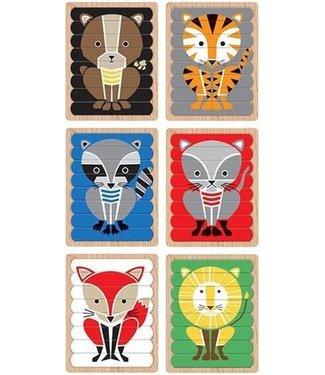 Mudpuppy Mudpuppy Puzzle Sticks Geometric Animals 3+