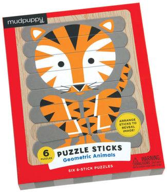 Mudpuppy Mudpuppy | Puzzle Sticks | Geometric Animals | 24 delig | 3+