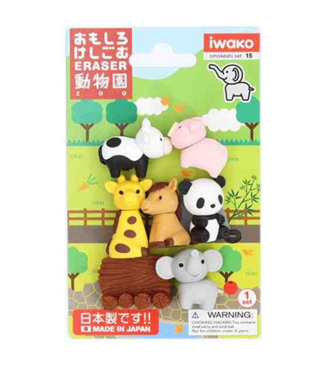 iwako Puzzle Eraser Zoo Set 3+