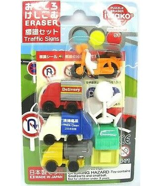Iwako iwako Puzzle Eraser Traffic Signs Set 3+