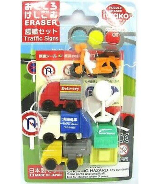 iwako Puzzle Eraser Traffic Signs Set 3+