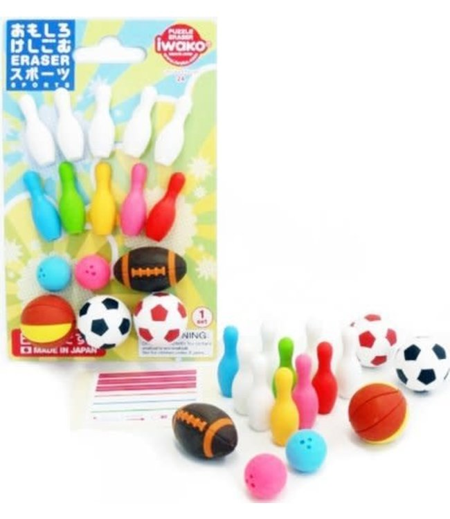 iwako Puzzle Eraser Sport Set 3+