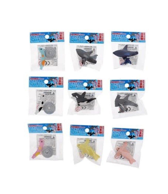 iwako Puzzle Eraser Sea Animal 3+