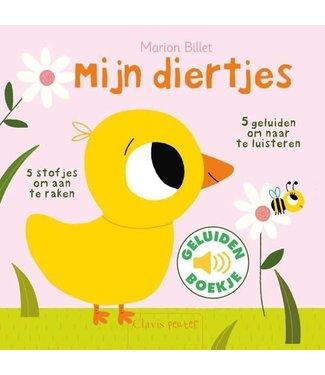 Clavis Clavis Voel- en Geluidenboekje Mijn Diertjes  1+