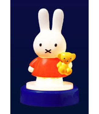 Nijntje Druklampje Oranje met Blauwe Voet 15 cm