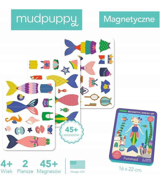 Mudpuppy Magnetic Tins Purrmaid 4+