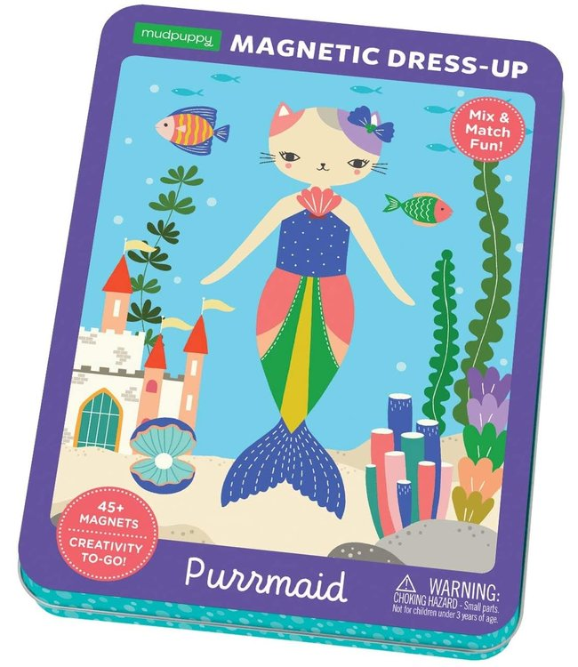 Mudpuppy | Magnetic Dress-Up | Purrmaid Fashion | 4+