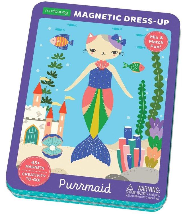 Mudpuppy | Magnetic Dress-Up | Purrmaid Fashion | 40 magnets | 4+