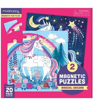 Mudpuppy Mudpuppy | Two Magnetic Puzzles | Magical Unicorn | 20 stukjes | 3+