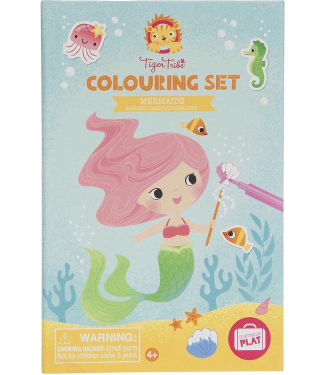 Tiger Tribe   Colouring Set   Mermaids   3+