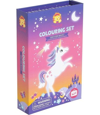Tigre Tribe Tiger Tribe | Portable Play | Colouring Set | Unicorn Magic | 3+