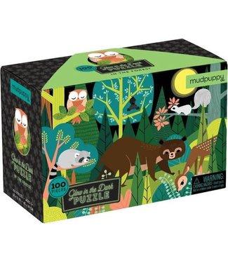 Mudpuppy Mudpuppy | Puzzle | Glow in the Dark | In The Forest | 100 stukjes | 5+