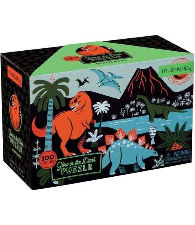 Mudpuppy | Puzzle | Glow in Dark | Dinosaurs | 100 stukjes | 5+