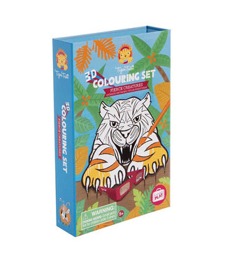 Tigre Tribe Tiger Tribe | 3D | Colouring Set | Fierce Creatures | 5+
