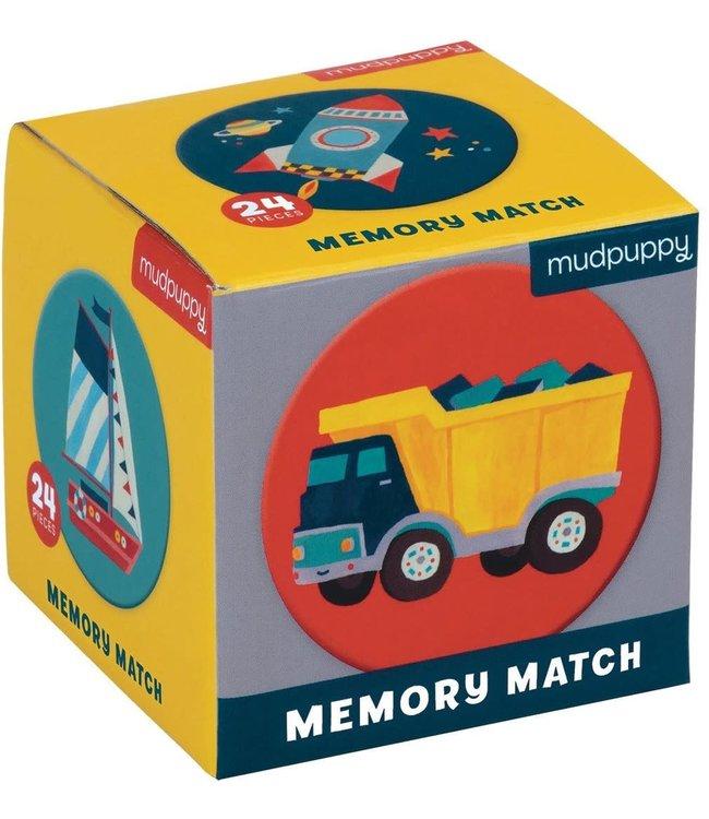 Mudpuppy Mini Memory Game Transportation 24 dlg  3+