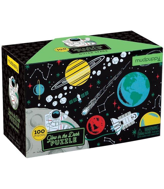 Mudpuppy   Puzzle   Glow in Dark   Outer Space   100 stukjes   5+