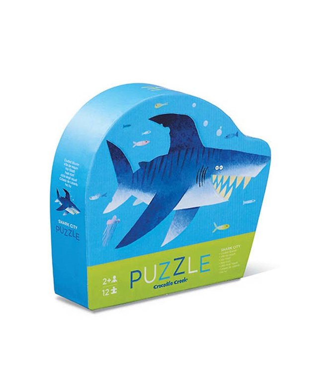 Crocodile Creek | Mini Shaped Puzzle | Shark | 12 stukjes | 2+