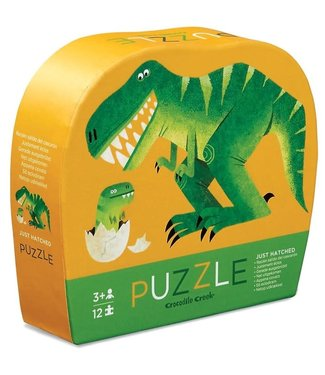 Crocodile Creek Crocodile Creek | Mini Shaped Puzzle | Just Hatched | 12 stukjes | 2+