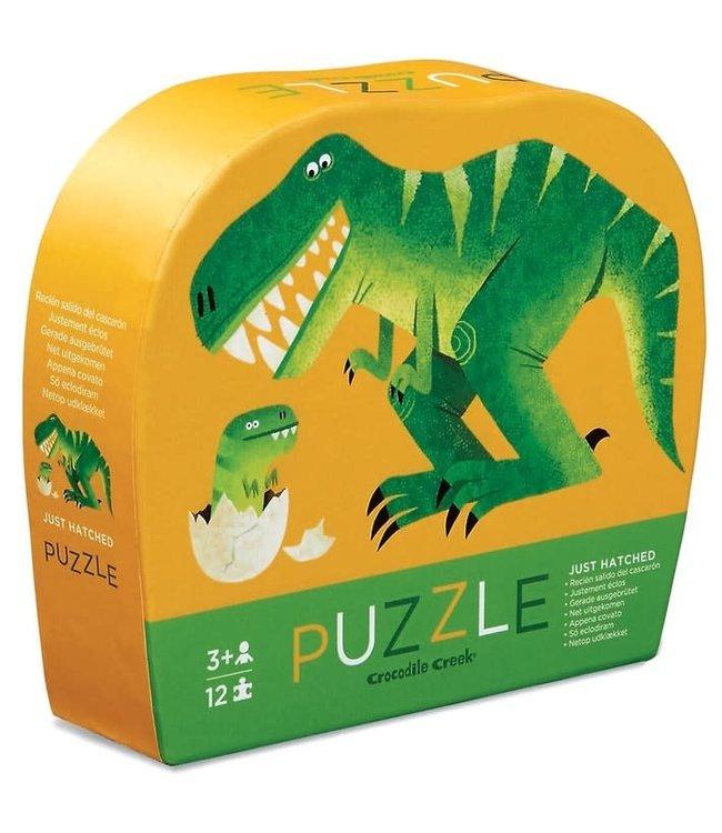 Crocodile Creek | Mini Shaped Puzzle | Just Hatched | 12 stukjes | 2+
