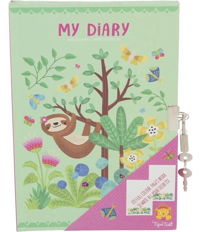 Tiger Tribe My Diary Tropical Sloth