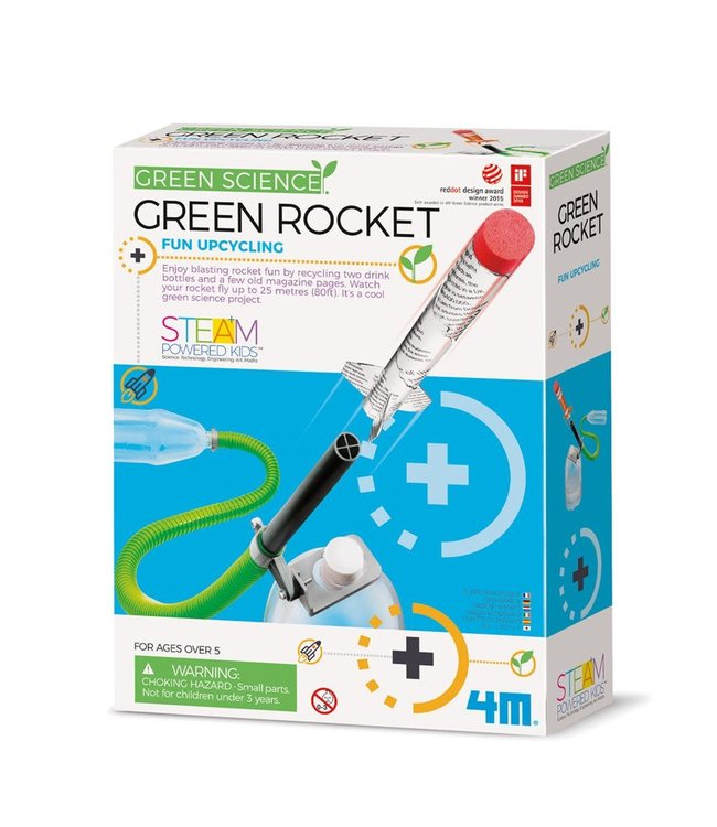4M KidzLabs Green Science Green Rocket 8+