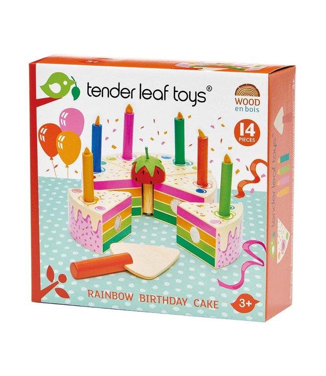 Tender Leaf Toys Rainbow Birthday Cake 14 pcs 3+