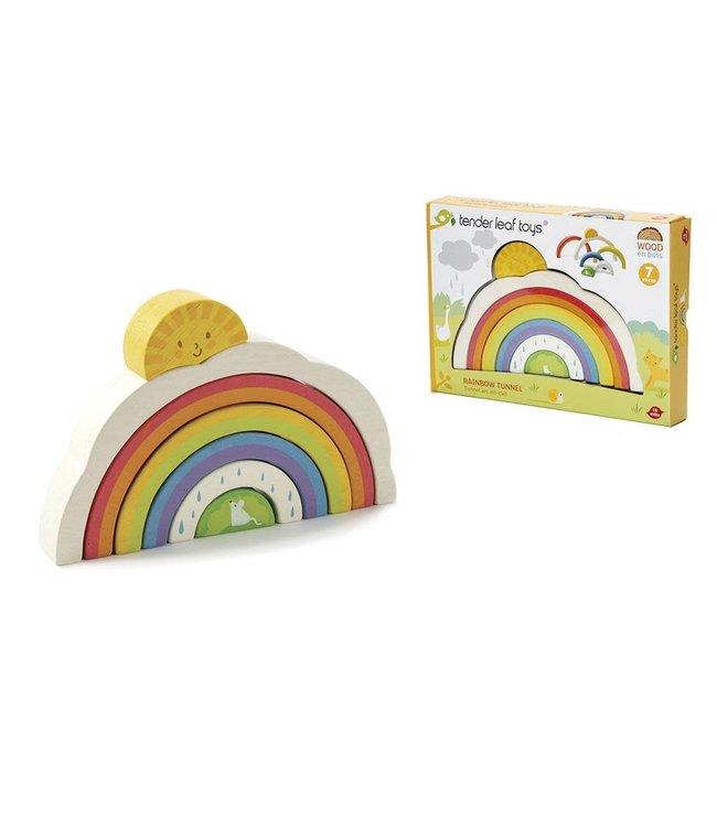 Tender Leaf Toys Rainbow Tunnel 7 pcs 1+