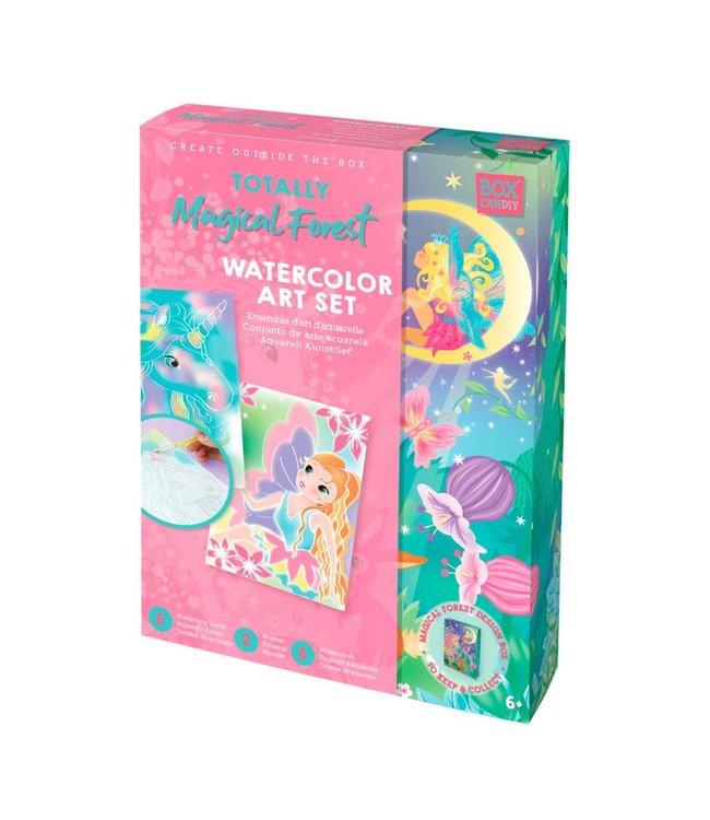 Box Candiy | Totally Magical Forest || Aquarel Kunst Set | met 8 Aquarelkaarten | 6+