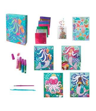 the Bubble Factory Box Candiy Totally Mermaids - Glitter en Folie Kunst Set 6+