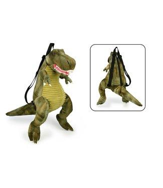 Grimini Pluche Rugzak Dino T-Rex Groen  3+