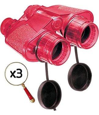 Navir Navir Verrekijker Super 40 Rood (vergroot 3 x )  5+