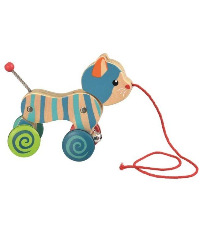 Egmont Toys | Houten trekfiguur | Poes | 1+