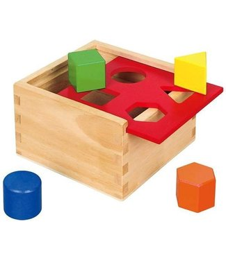 Viga Toys Viga Houten Vormenstoof met Schuifdeksel inclusief 8 blokken 1+