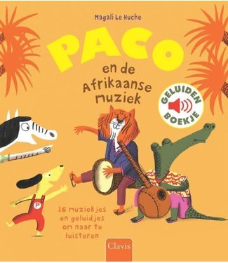 Clavis Clavis Geluidenboek Paco en de Afrikaanse muziek  3+