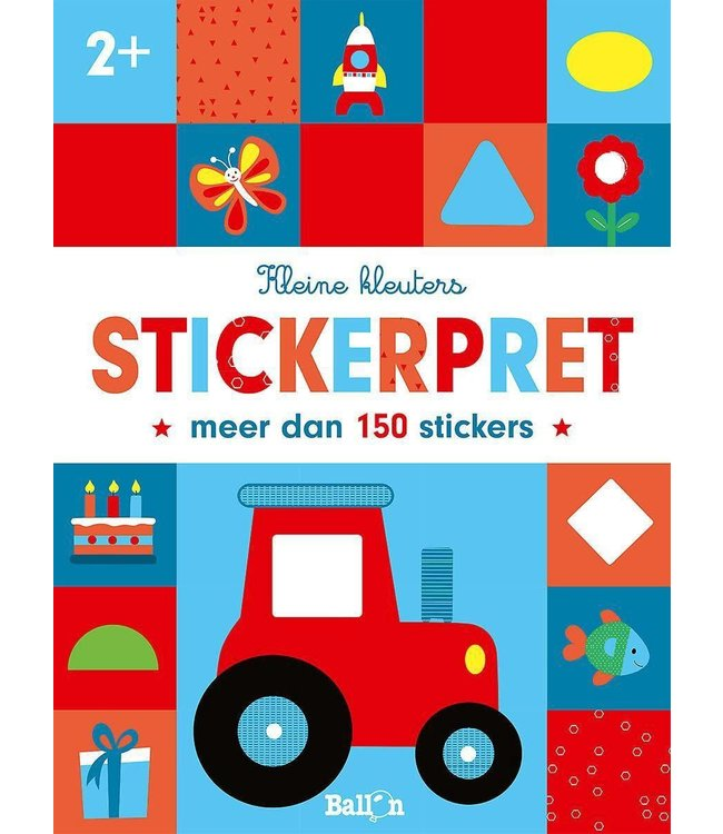 Uitgeverij Ballon | Kleine Kleuters | Tractor Stickerpret | 2+