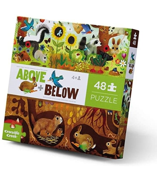 Crocodile Creek | Puzzle | Above & Below | Backyard | 48 stukjes | 4+
