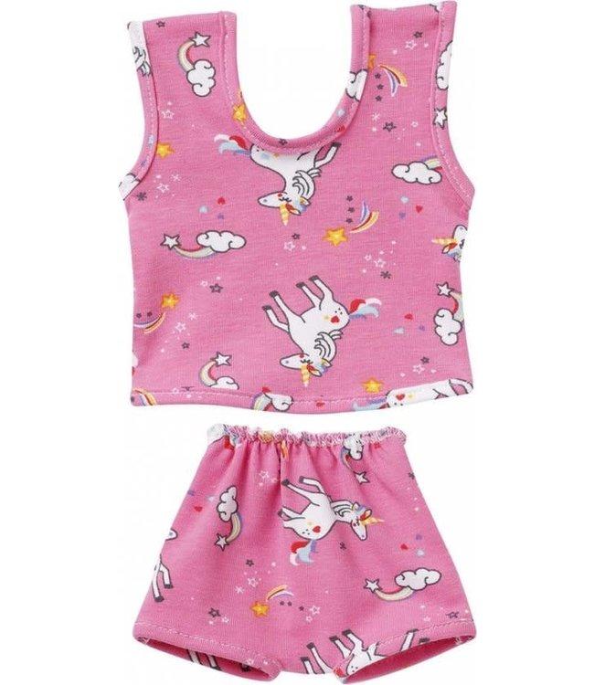 Schwenk Poppenkleding Ondergoed Roze met Unicorn (past op Gordi) maat 30-33