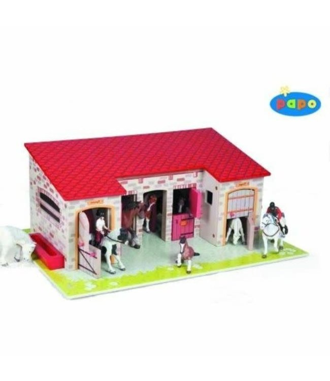 Papo 60102 The Stable Paardenstal 3+