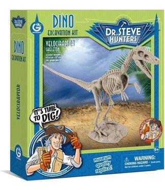 Dino Excavation Kit Velociraptor Skeleton 6+
