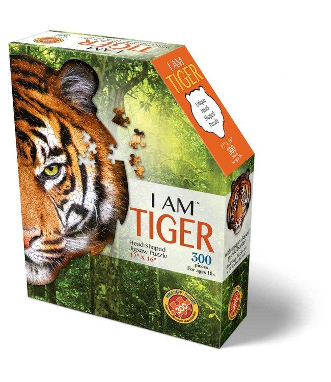 I Am Head Shaped Jigsaw Puzzle Tiger 300 pcs  6+