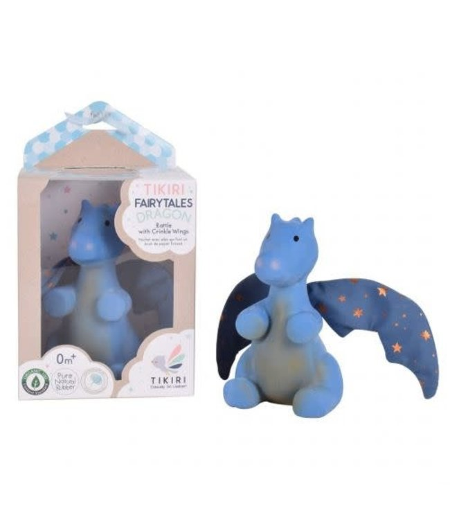 Tikiri Natuurlijk Rubber Fairytails Draak Midnight 13 cm 0+