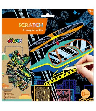 Scratch Avenir Scratch - Transportation 3+