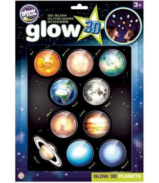 Brainstorm Toys Brainstorm Toys 3D Glow in the Dark Stickers Planeten 10 pcs 3+