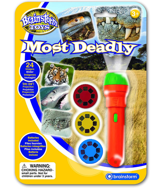 Brainstorm Toys Most Deadly Torch & Projector  3+