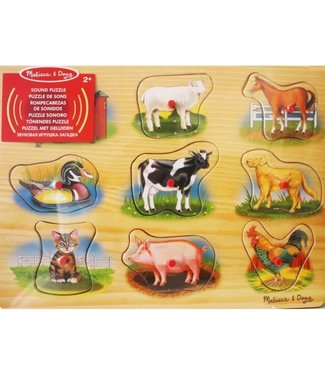 Melissa and Doug Melissa and Doug Classic Wooden Sound Puzzle Classic Farm  1+
