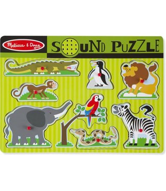 Melissa and Doug Melissa and Doug Wooden Sound Puzzle Zoo Animals 8 pcs 1+